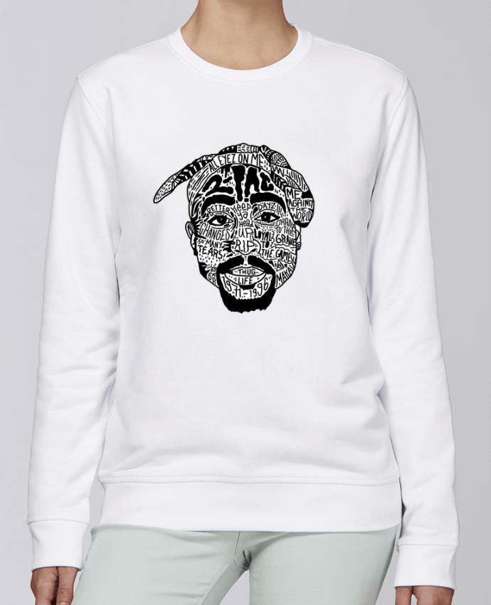 Sweat Col rond Unisexe Stanley Stella Rise Tupac par Nick cocozza