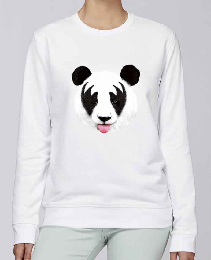 Sweat Col rond Unisexe Stanley Stella Rise Kiss of a panda par robertfarkas