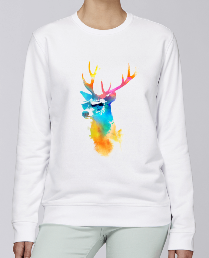 Sweat Col rond Unisexe Stanley Stella Rise Sunny stag par robertfarkas