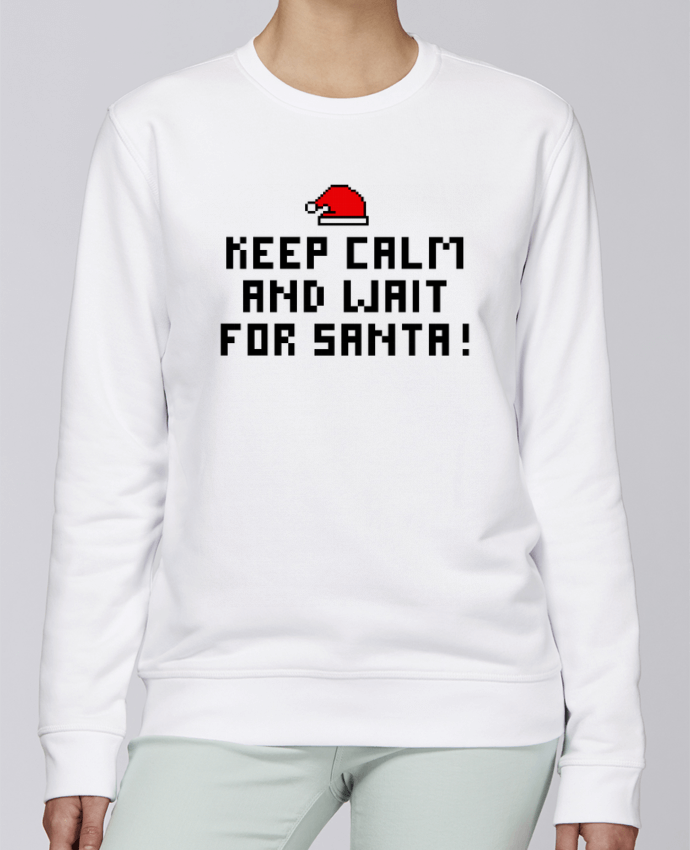 Sweat Col rond Unisexe Stanley Stella Rise Keep calm and wait for Santa ! par tunetoo