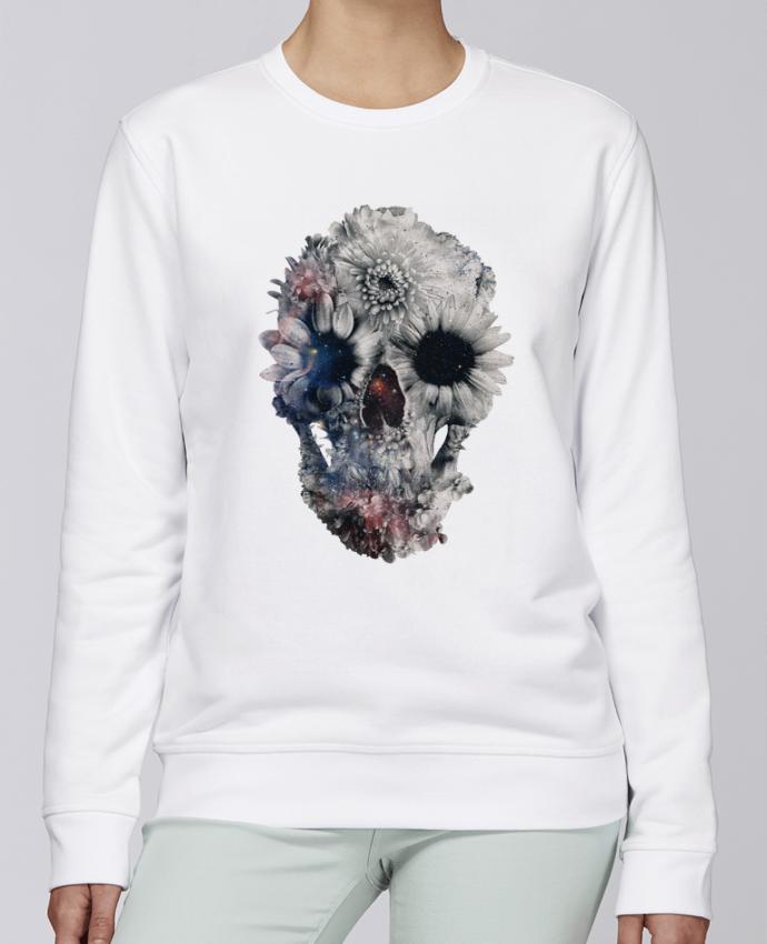 Sweat Col rond Unisexe Stanley Stella Rise Floral skull 2 par ali_gulec