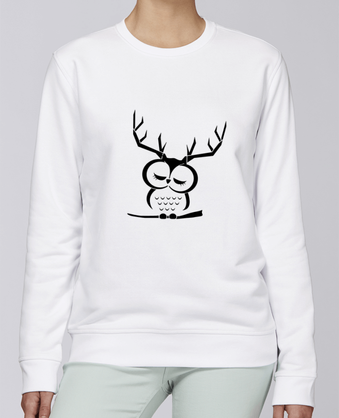Sweat Col rond Unisexe Stanley Stella Rise Hibou cerf par Ikare