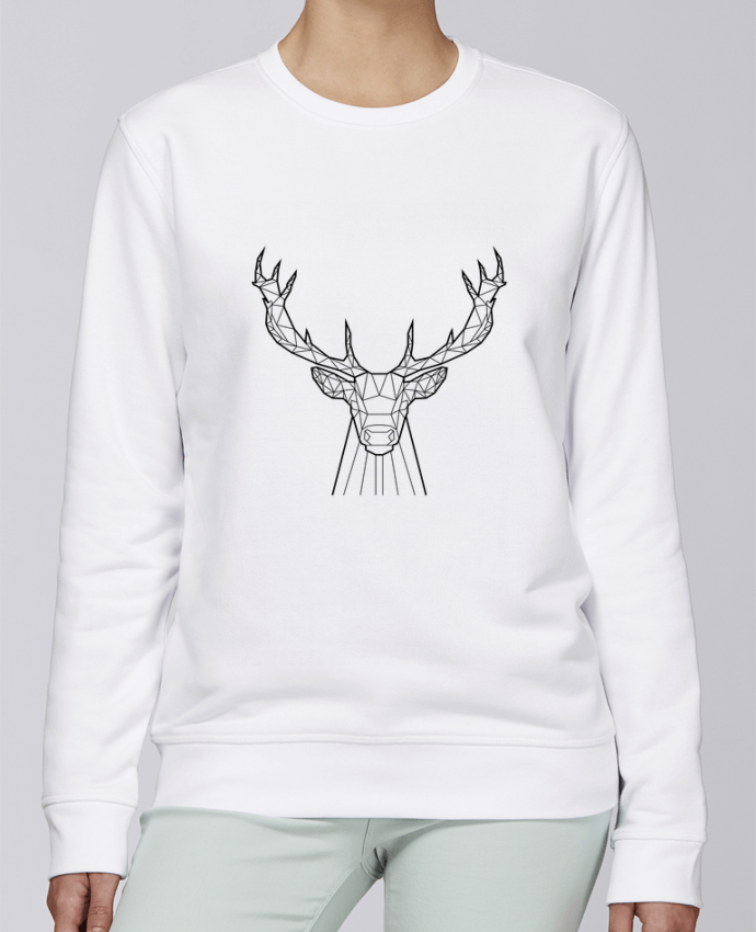Sweat Col rond Unisexe Stanley Stella Rise cerf animal prism par Yorkmout