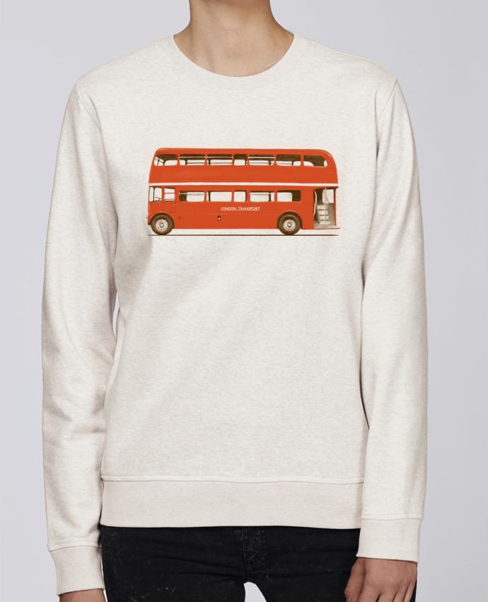 Sweat Col rond Unisexe Stanley Stella Rise Red London Bus par Florent Bodart