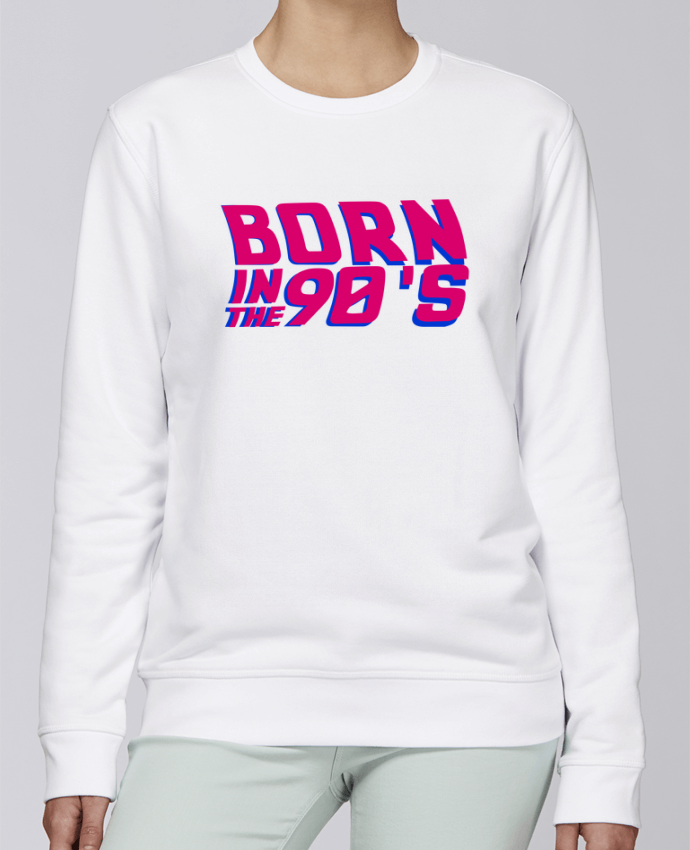 Sweat Col rond Unisexe Stanley Stella Rise Born in the 90's par tunetoo