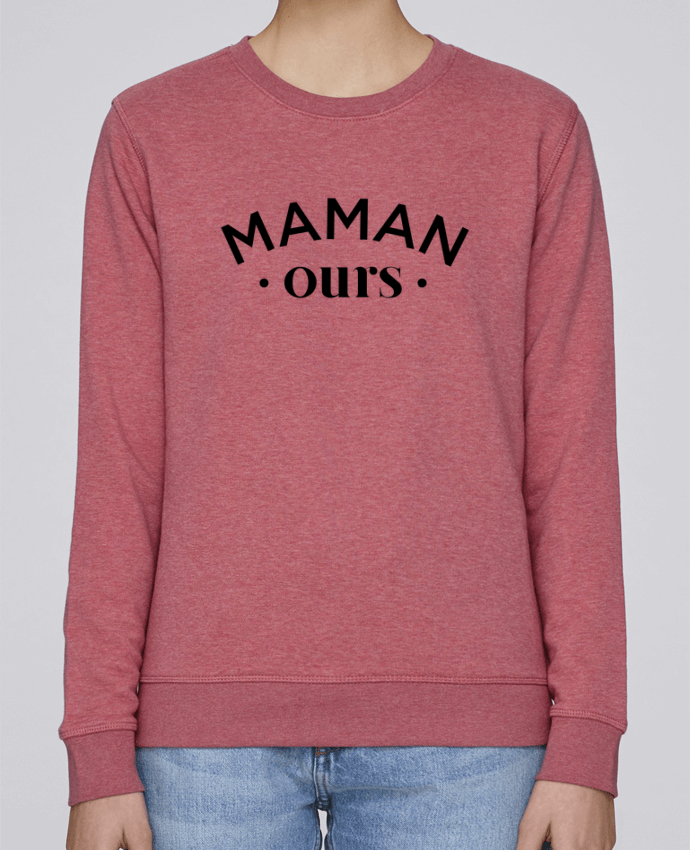 Sweat Col rond Unisexe Stanley Stella Rise Maman ours par tunetoo