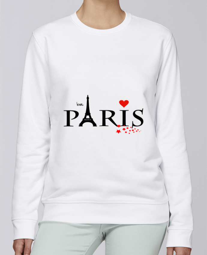 Sweat Col rond Unisexe Stanley Stella Rise Paris love par Dream Design