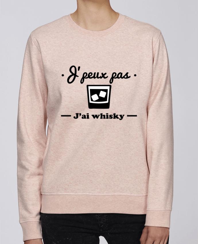 Sweat Col rond Unisexe Stanley Stella Rise J'peux pas j'ai whisky, humour,alcool,citations,drôle par Benichan