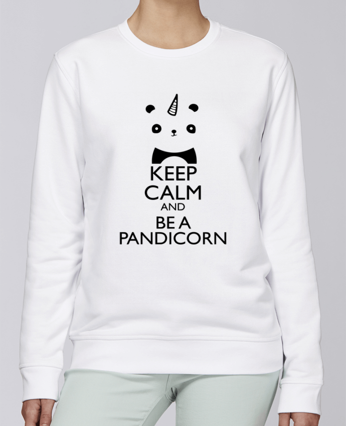 Sweat Col rond Unisexe Stanley Stella Rise keep calm and be a Pandicorn par tunetoo
