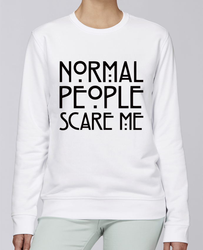Sweat Col rond Unisexe Stanley Stella Rise Normal People Scare Me par Freeyourshirt.com
