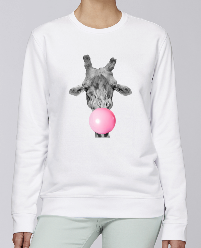 Sweat Col rond Unisexe Stanley Stella Rise Girafe bulle par justsayin