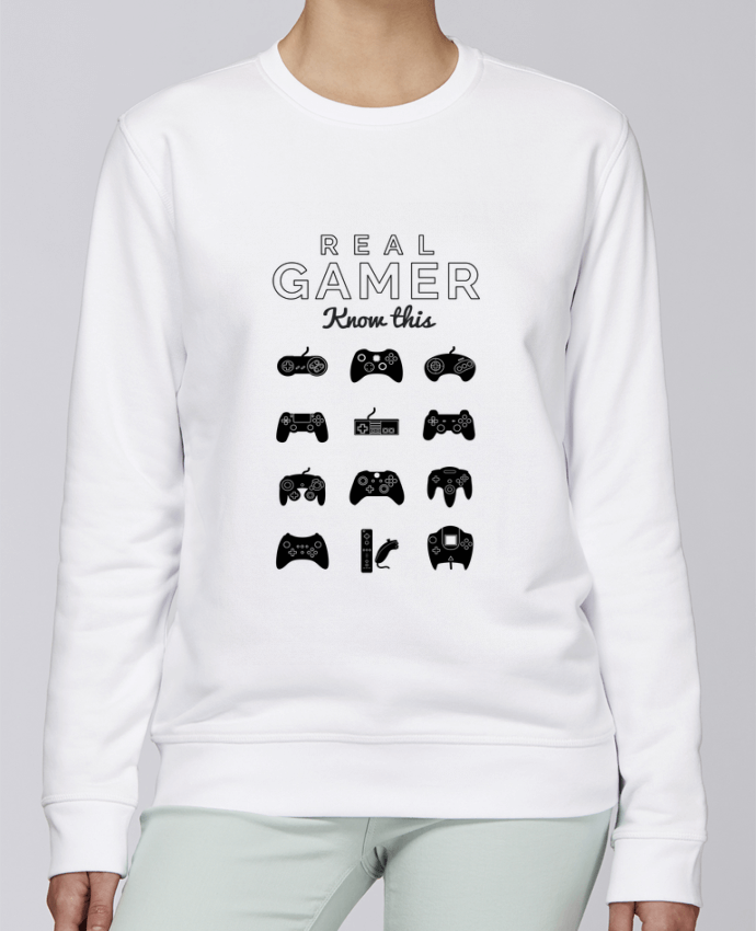 Sweat Col rond Unisexe Stanley Stella Rise Real gamer jeux video par