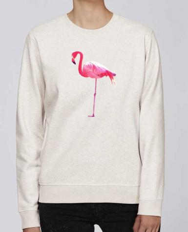 Sweat Col rond Unisexe Stanley Stella Rise Flamant rose par justsayin