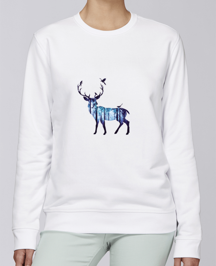 Sweat Col rond Unisexe Stanley Stella Rise Deer par Likagraphe