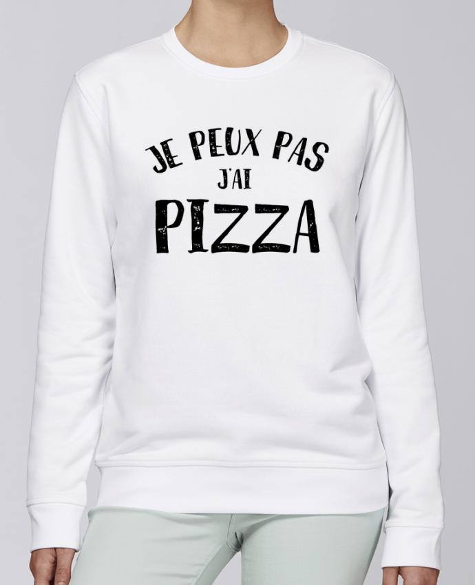 Sweat Col rond Unisexe Stanley Stella Rise Je peux pas j'ai Pizza par L'Homme Sandwich