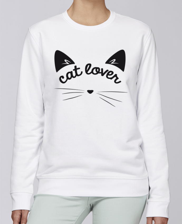 Sweat Col rond Unisexe Stanley Stella Rise Cat lover par FRENCHUP-MAYO