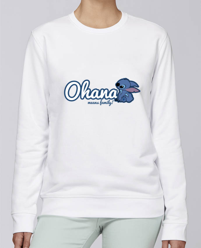 Sweat Col rond Unisexe Stanley Stella Rise Ohana means family par Kempo24