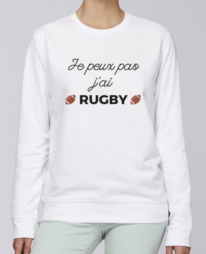 Sweat Col rond Unisexe Stanley Stella Rise Je peux pas j'ai Rugby par Ruuud