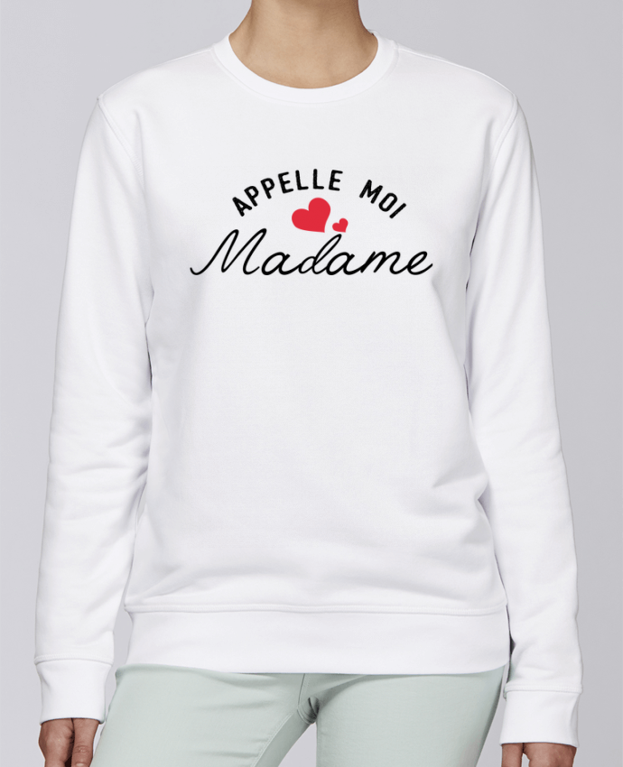 Sweat Col rond Unisexe Stanley Stella Rise Appelle moi madame par tunetoo