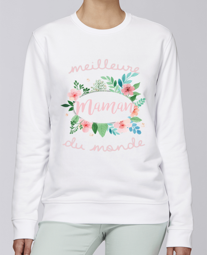 Sweat Col rond Unisexe Stanley Stella Rise Meilleure maman du monde par FRENCHUP-MAYO