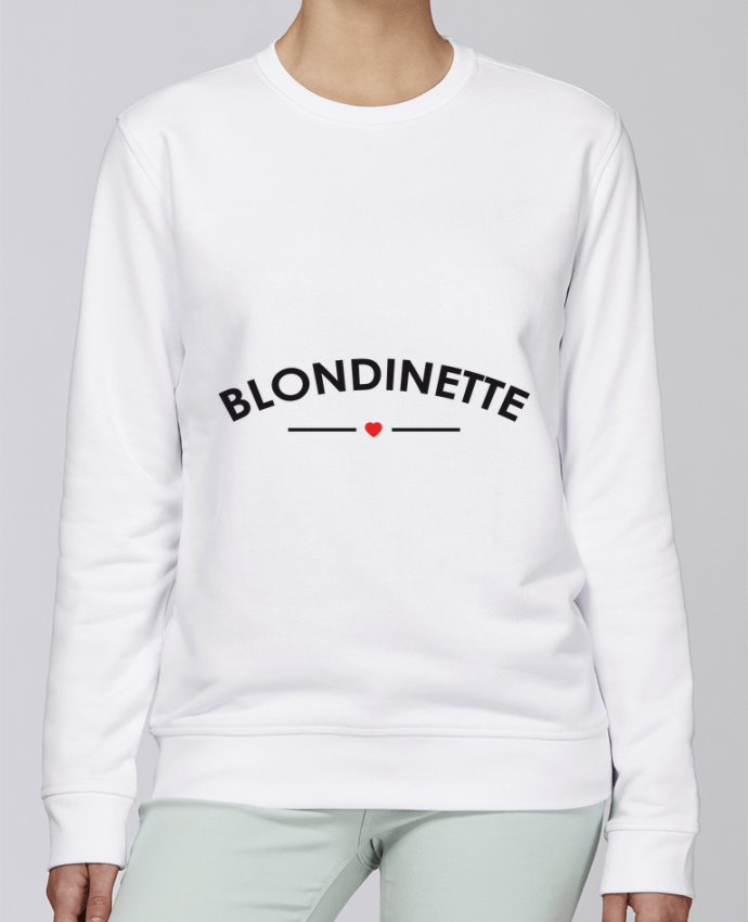 Sweat Col rond Unisexe Stanley Stella Rise Blondinette par FRENCHUP-MAYO