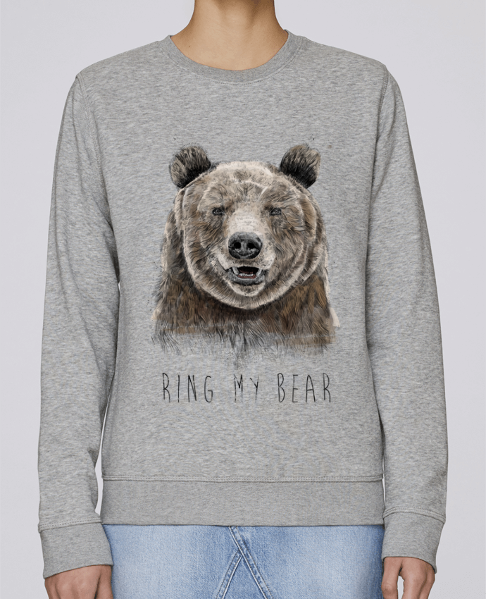 Sweat Col rond Unisexe Stanley Stella Rise Ring my bear par Balàzs Solti