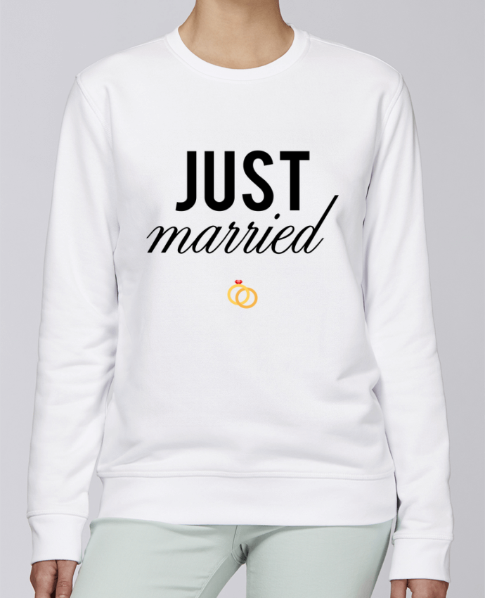 Sweat Col rond Unisexe Stanley Stella Rise Just married par tunetoo
