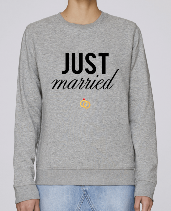 Sweat Col rond Femme Stanley Stella Rise Just married par tunetoo