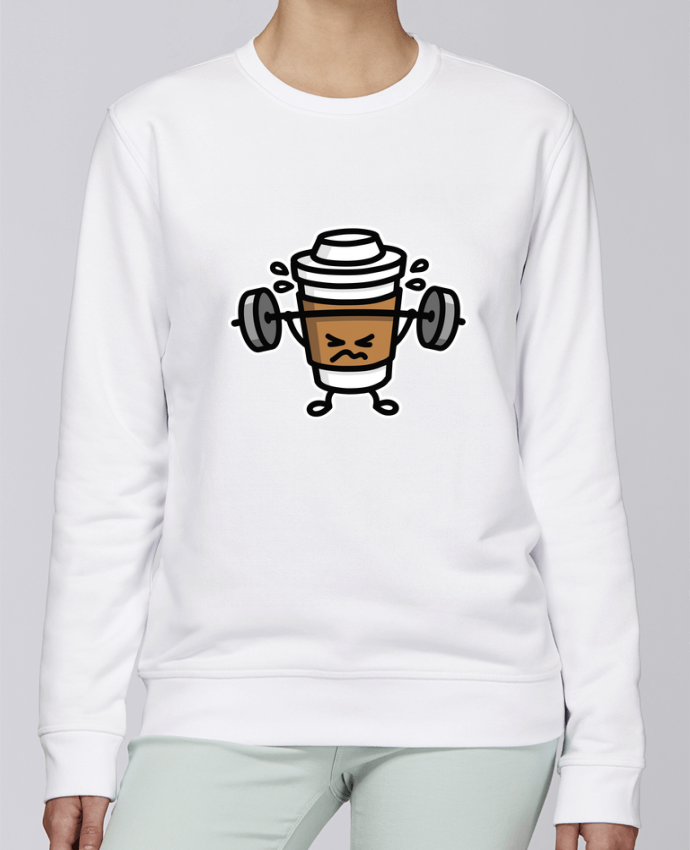 Sweat Col rond Unisexe Stanley Stella Rise STRONG COFFEE SMALL par LaundryFactory