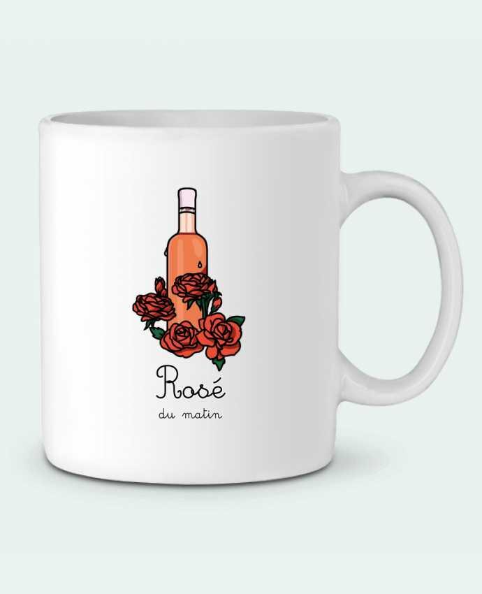 Mug en Céramique Rosé du matin par tattooanshort