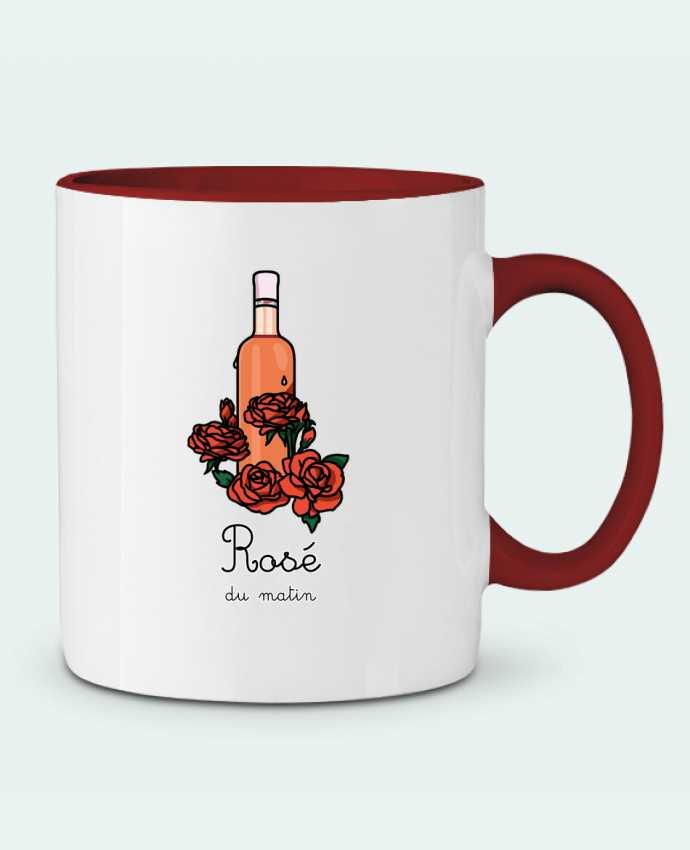 Mug en Céramique Bicolore Rosé du matin tattooanshort
