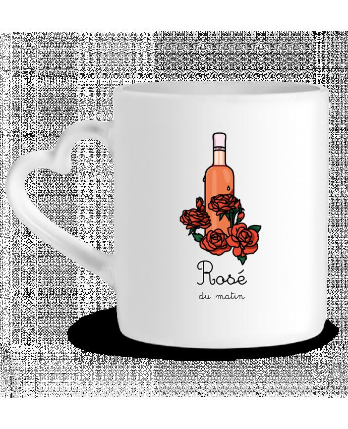 Mug Coeur Rosé du matin par tattooanshort