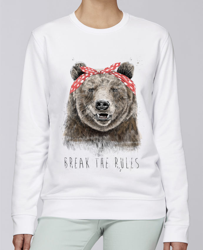 Sweat Col rond Unisexe Stanley Stella Rise Break the rules II par Balàzs Solti