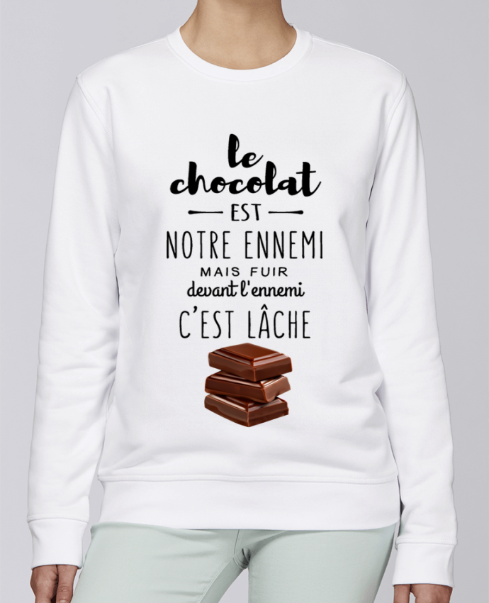 Sweat Col rond Unisexe Stanley Stella Rise chocolat par DesignMe