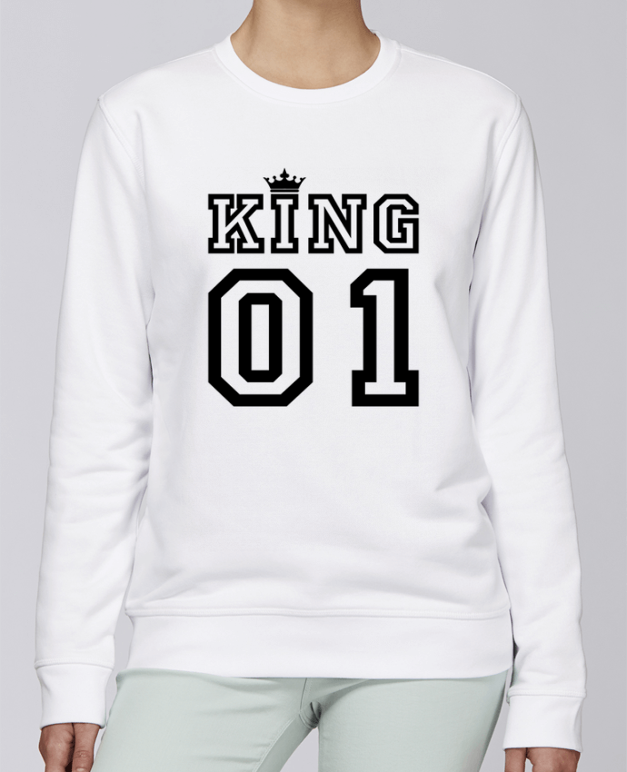 Sweat Col rond Unisexe Stanley Stella Rise King 01 par tunetoo