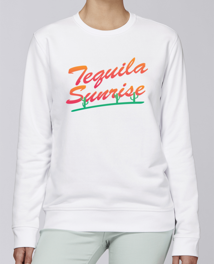 Sweat Col rond Unisexe Stanley Stella Rise Tequila Sunrise par tunetoo