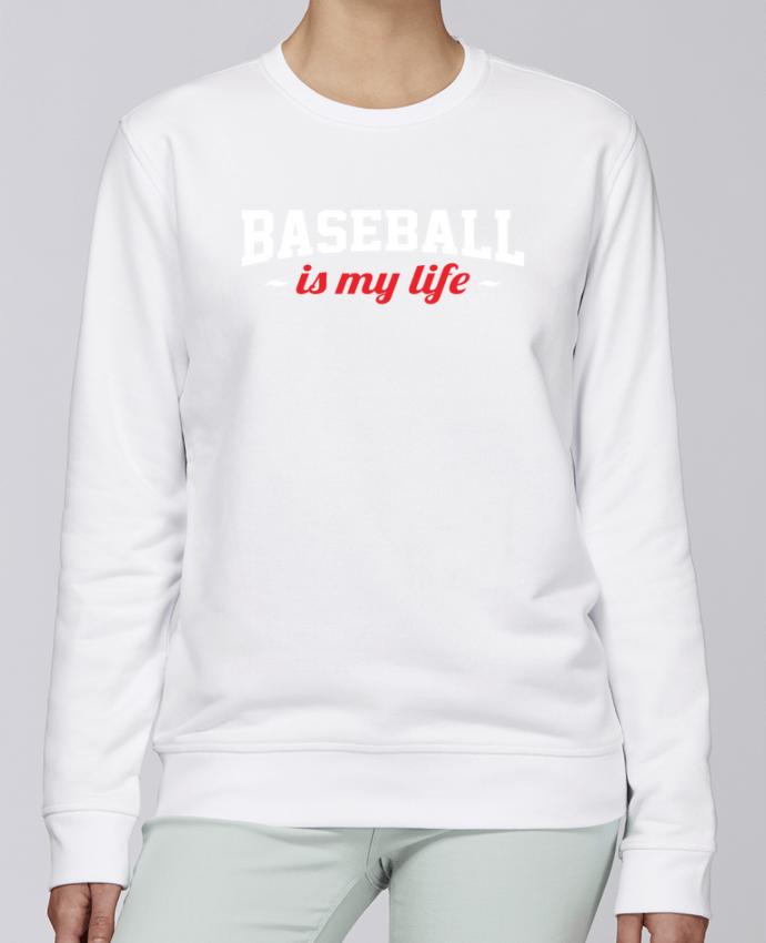 Sweat Col rond Unisexe Stanley Stella Rise Baseball is my life par Original t-shirt