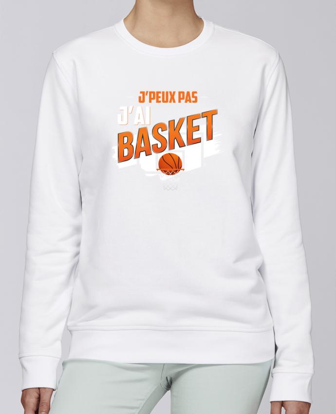 Sweat Col rond Unisexe Stanley Stella Rise J'peux pas j'ai basket par Original t-shirt