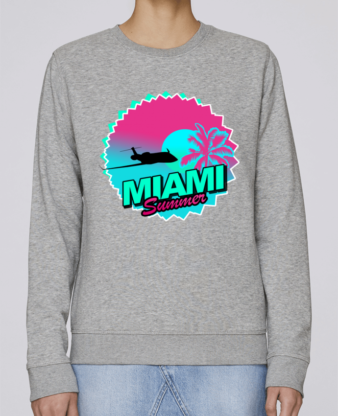 Sweat Col rond Unisexe Stanley Stella Rise Miami summer par Revealyou
