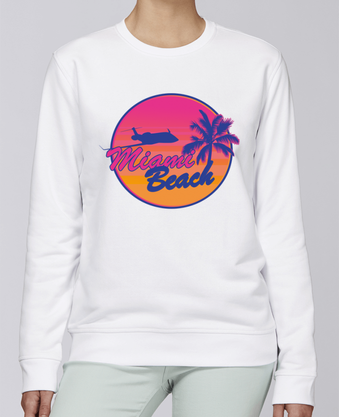 Sweat Col rond Unisexe Stanley Stella Rise miami beach par Revealyou