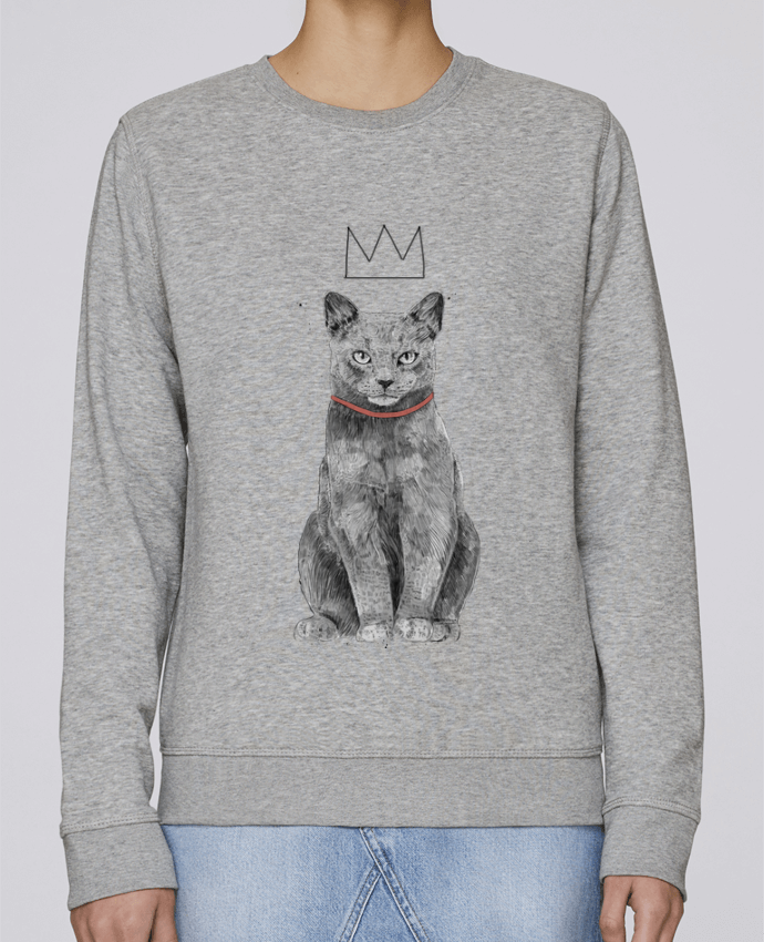 Sweat Col rond Unisexe Stanley Stella Rise King Of Everything par Balàzs Solti