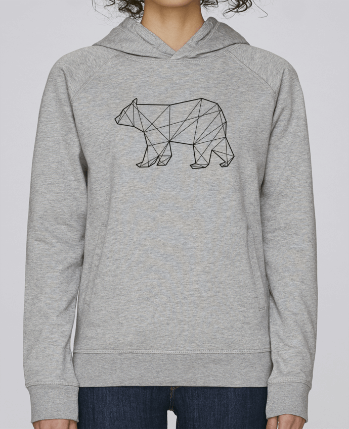 Sweat Capuche Femme Stanley Base Polygonal Bear par AB