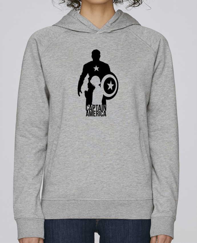 Sweat Capuche Femme Stanley Base Captain america par Kazeshini