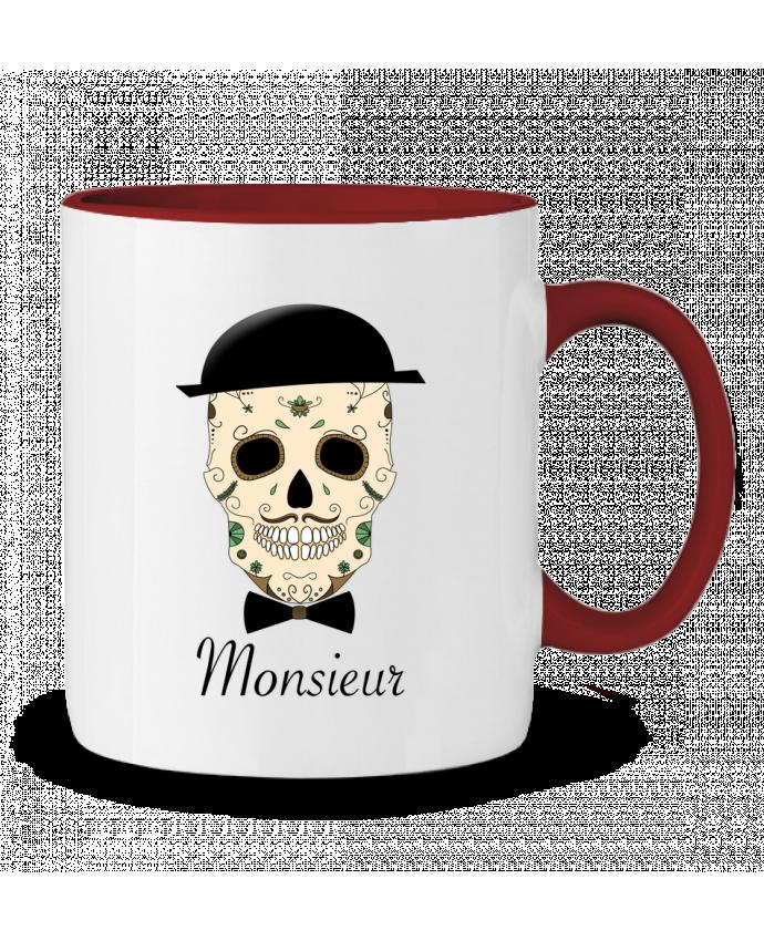 Mug en Céramique Bicolore Calavera Monsieur Mx ARTificiel