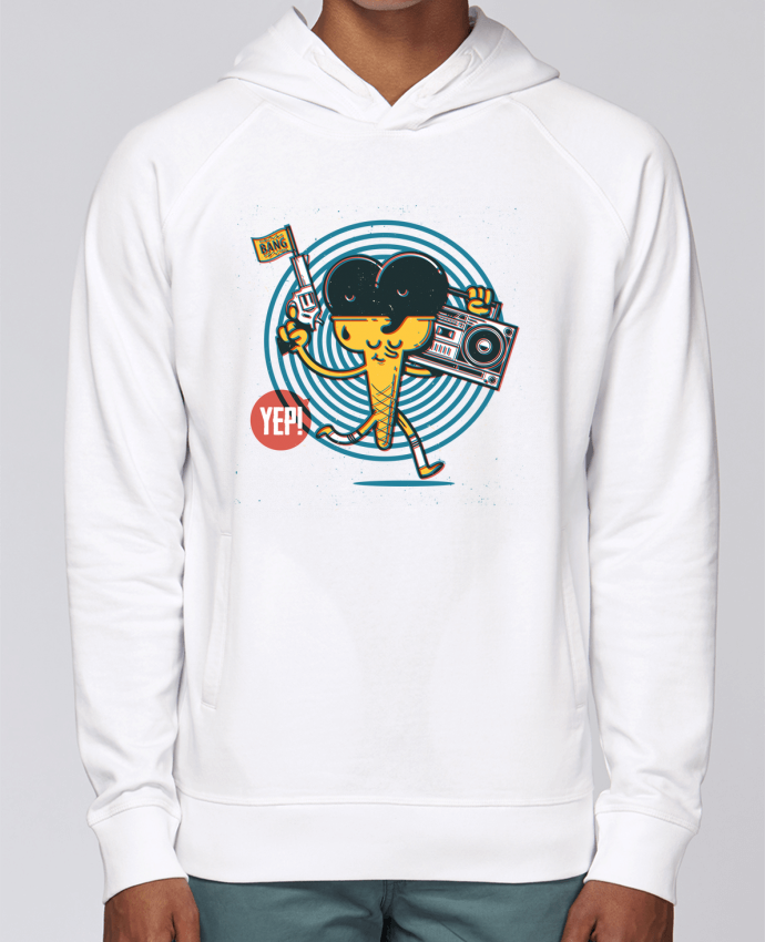 Sweat Capuche Homme Stanley Base YEP! Ice Cream par YEP!