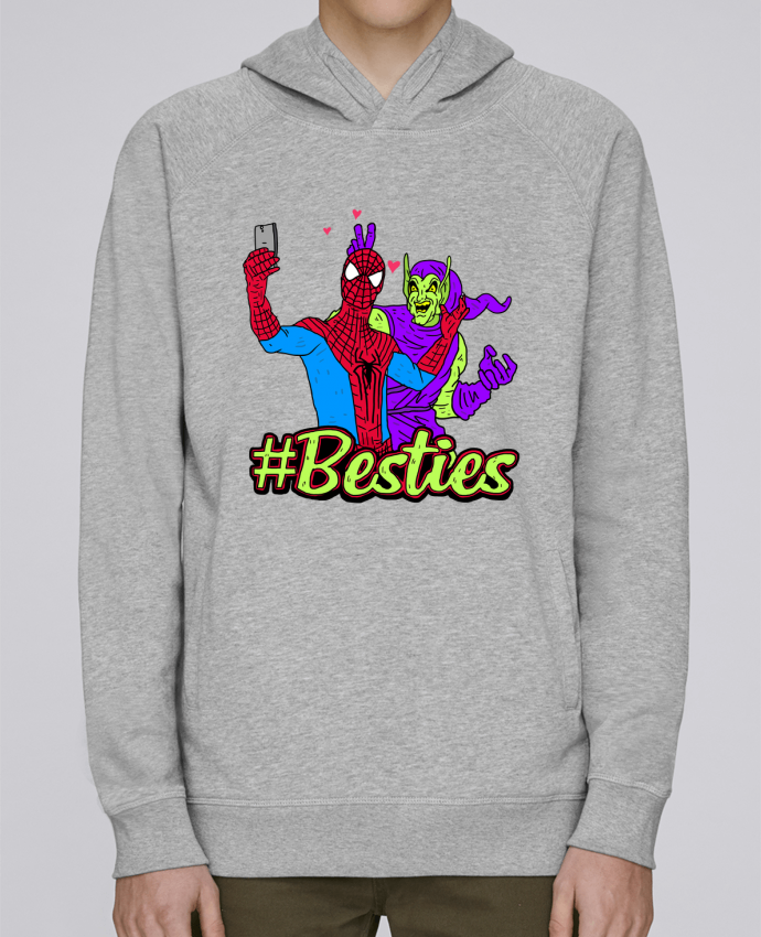 Sweat Capuche Homme Stanley Base #Besties Spiderman par Nick cocozza
