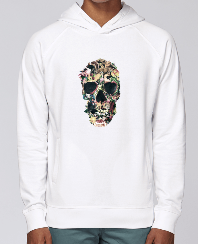 Sweat Capuche Homme Stanley Base Vintage Skull par ali_gulec