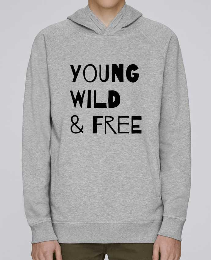 Sweat Capuche Homme Stanley Base YOUNG, WILD, FREE par tunetoo