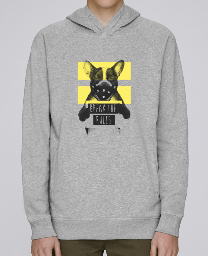 Sweat Capuche Homme Stanley Base rebel_dog_yellow par Balàzs Solti