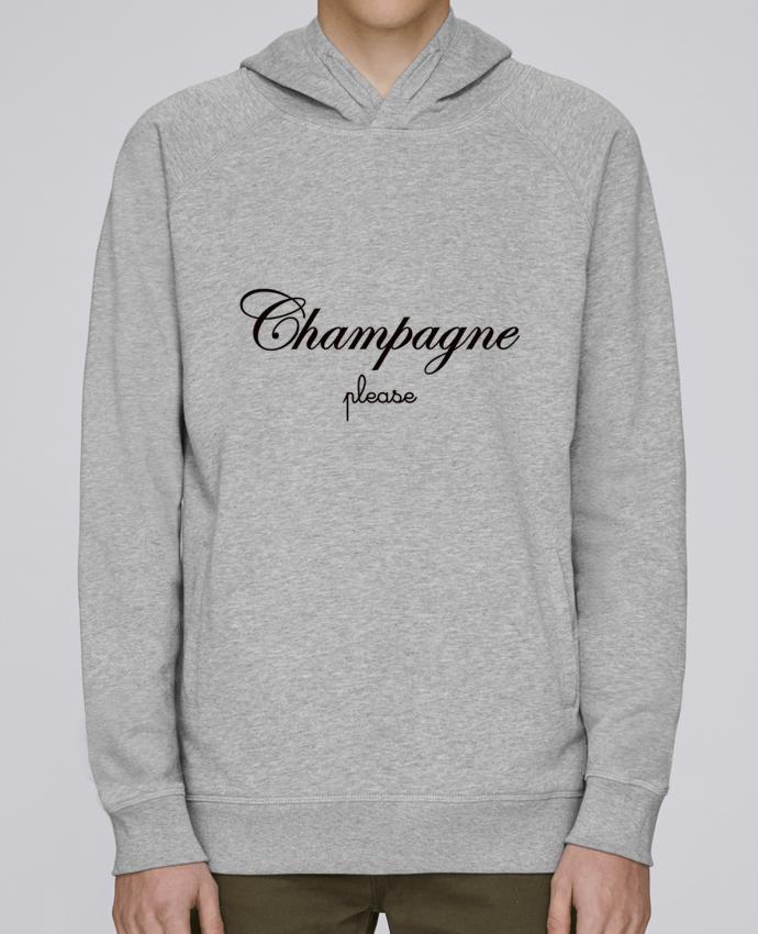 Sweat Capuche Homme Stanley Base Champagne Please par Freeyourshirt.com